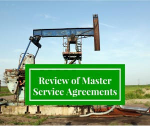 Master Service Agreements in Oil and Gas